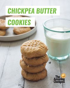 Classic Peanut Butter Cookies with a twist: using The Amazing Chickpea Butter as a nut-free alternative! Your kids will love these tasty cookies! Classic Peanut Butter Cookies, Recipe For 4, Yummy Cookies, Nut Free, Baking Soda, Vegetarian, Tasty, Amazing, Sweet
