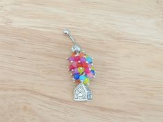 Up House Belly Ring Balloon House Belly Button by LostAtSeaJewelry, $20.00