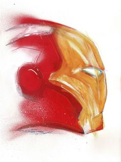 Original Acrylic Painting - Iron Man By Street Artist ANTISTATIK - W.B.