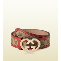 Gucci bags and Gucci handbags women's gucci belt with heart-shaped interlocking G buckle 001 $134