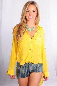 WHITE CHIFFON STAR GOLD STUDDED BLOUSE White Chiffon, Gold Studs, Casual Tops, Rompers, Stars, Blouse, Sweaters, Angel, Dresses