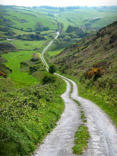 Irish mountain road.