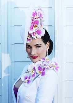 Dita Von Teese attends the Myer Marquee at the Melbourne Cup