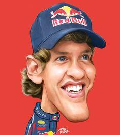 Vettel - Caricatura