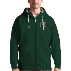 Hawaii Warriors Antigua Victory Full-Zip Hoodie - Green