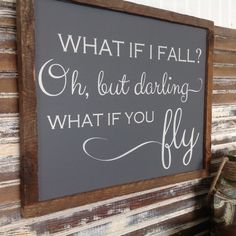 What if I fall Oh but darling what if you fly. by angtiques