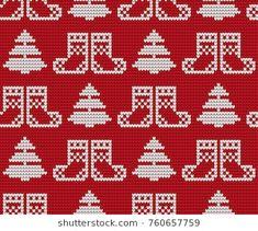 Knitted Christmas and New Year pattern Christmas Knitting, Christmas Sweaters, Crochet Christmas Decorations, Swedish Weaving, Fair Isle Pattern, Theme Noel, Christmas And New Year, Christmas Stuff, Fair Isle Knitting