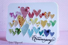 Simon Says Stamp Heart Parade Die Making Greeting Cards, Greeting Cards Handmade, Easy Handmade Cards, Butterfly Cards Handmade, Making Cards, Card Making Inspiration, Making Ideas, Happy Anniversary Cards, Homemade Anniversary Cards