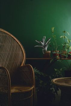 Emerald Green Is The New Grey For Interiors #refinery29  http://www.refinery29.uk/emerald-green-interiors-tips#slide-7  The beauty of green is that it makes everything look fresh and vital – yep, even relics from the 1970s, such as rattan furniture and macrame, two trends from the seventies that are currently enjoying a revival. Team with succulents and cheese plants (more seventies throwbacks) and you've got yourself an interiors love-in. ...