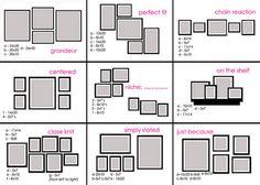 disposicion cuadros pasillo - Buscar con Google