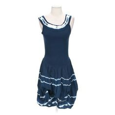 Adorable Ruffled Blue Dress Super cute!!! The top is t shirt material and the bottom is ruffled cotton. :) Dresses Midi
