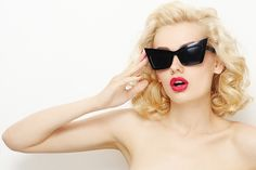 Get retro with your eyewear. | 10 How-Tos For The Perfect Pin-Up Style