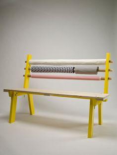 Fabric Bolts Got Your Back: Bolt Bench - by Canadian design firm Dear Human
