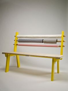 Fabric Bolts Got Your Back: Bolt Bench - by Canadian design firm Dear Human