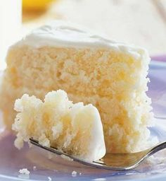 Recipe for Lemonade Layer Cake - Thawed lemonade concentrate adds bold, fun flavor to this tart layer cake. This cake is the perfect solution to summer birthday parties or events when you need to wake up your taste buds.
