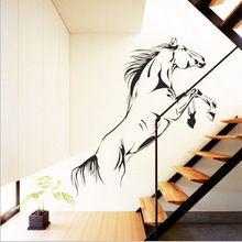 Paard running DIY muursticker Removeable Woondecoratie 3D stickers(China (Mainland))