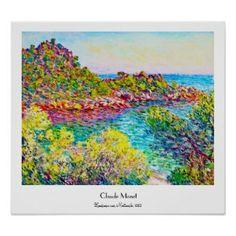 SOLD! - Landscape near Montecarlo, 1883 Claude Monet Print #monet #poster #print #montecarlo #impressionism #painting #Paris #France #art