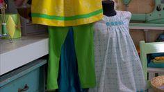 Sy egna kläder dek 2. Lee syr gröna tights av stretchigt material