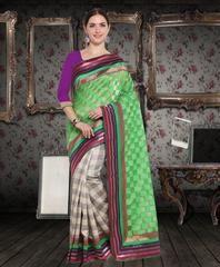 Green & Grey Color Art Silk Casual Party Sarees : Aashirya Collection YF-60829 Color Art, Gray Color, Party Sarees, Art Silk Sarees, Casual Party, Green And Grey, Sari, Collection, Fashion