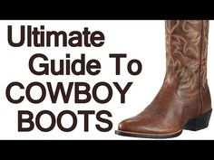How To Wear Cowboy Boots | Ultimate Guide To The Western Boot | Roper Stockman Buckaroo Boot Video (via @antoniocenteno)
