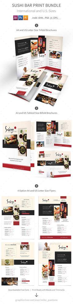 Sushi Bar Menu Print Bundle — Photoshop PSD #traditional • Download ➝ https://graphicriver.net/item/sushi-bar-menu-print-bundle/19293685?ref=pxcr