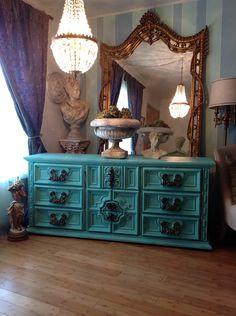 Vintage French Style Dresser. $300.00, via Etsy.