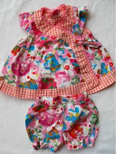 Girls Oilily Wrap Dress & Bloomers 56 3mo