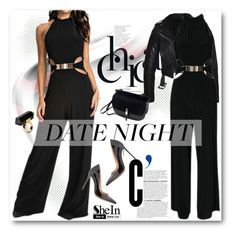 """Date Night: Jumpsuit Style"" by svijetlana ❤ liked on Polyvore featuring Gianvito Rossi, Monki, DateNight and polyvoreeditorial"