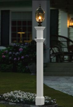fixture solar lamp superb street post outdoor genius light lights top gate