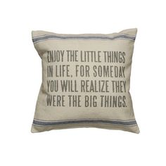 Vintage Sack Pillow - Enjoy The Little Things