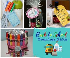 Check out these first day of school teacher gifts. Making a fun little gift for back to school will let teachers know that you appreciate all they do for your child. First Day of School Teacher Gifts It's that time of year....everyone is getting ready for back to school. Little Man is so excited he'll be starting Kindergarten this year and, to be honest, mommy's pretty stoked about it too! Plus, Miss Jellybean will be starting preschool 3 days a week and this momma will actual...