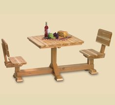 2 Person Picnic Table Woodworking Pattern