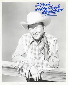Signed photo of Roy Rogers from the Jill Clayburgh, Irving Thalberg, Cincinnati Kids, Silent Screen Stars, Robert Walker, Maureen O'hara, Best Sci Fi, John Ford