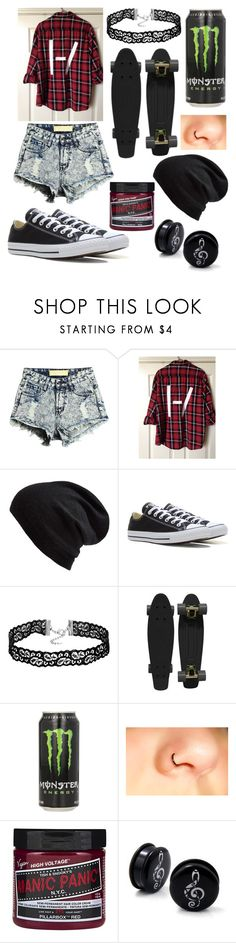 """Skater Girl ❤️"" by cassiopeia-lestrange ❤ liked on Polyvore featuring Echo, Converse and Retrò"