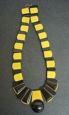 Deco Bakelite Necklace Egyptian Revival