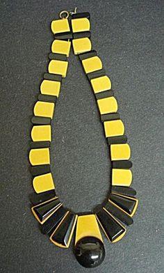 Deco Bakelite Necklace Egyptian Revival