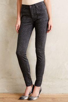 Pilcro Jacquard Utility Jeans - anthropologie.com