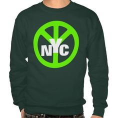 New York City Neon Green Peace Symbol. #tshirts #tees #t-shirts