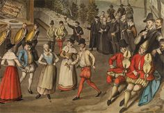 Wedding Feast at Bermondsey, c. 1569, is a watercolour by Samuel Hieronymous Grimm in the Society of Antiquities collection.