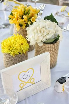 Little Big Company | The Blog: The Couple Tie The Knot at a An Island Wedding with pops of Yellow and nautical ropes by Rock, Paper Scissors