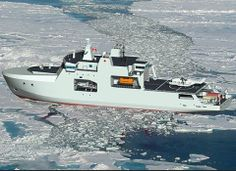 Artist rendering of the Arctic/Offshore Patrol Ships - View aft port side in ice. Lockheed Martin Canada is one of AOPS Prime Contractor Irving Shipbuilding's Tier 1 suppliers for the AOPS project under the Canadian government's National Shipbuilding Procurement Strategy (NSPS). Under an initial contract, OSI will design the Integrated Bridge and Navigation System for the new vessels.