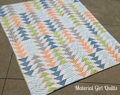 Happy Geese quilting by Material Girl Quilts, via Flickr
