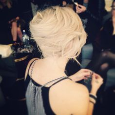 French roll hairup