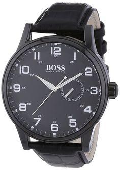 Hugo Boss 1512833 Mens Leather Watch - The Watch Studio