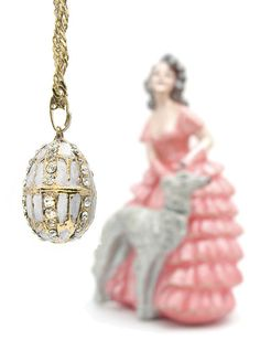 Faberge Egg Pendant at Maison Russe.