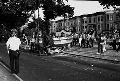 Rioters overturn a police car during the Crown Heights riots on August Hello Brooklyn, Brooklyn New York, Things Fall Apart Themes, Police Crime, Crown Heights, Those Were The Days, African American History, The Crown, 20 Years