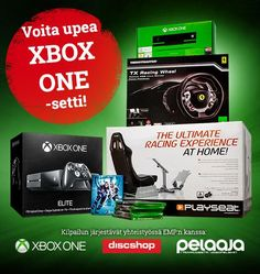 Voita Xbox One -setti, jota kaikki kadehtivat - konsoli, ajotuoli, ratti+polkimet, pelejä ja paljon muuta! Osallistu kilpailuun ja jaa se kaikille kavereillesi: https://secure.emp.fi/com_2888_participate/?wt_mc=sm.pin.fp.xbox-kisa.17102015