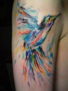 diggin the style & coloring of this tattoo.