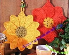 Hobby lavori femminili - ricamo - uncinetto - maglia: presina