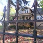 Faux wrought iron fence how-to from Stolloween